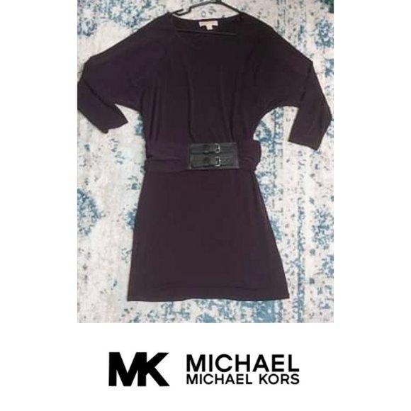 Michael Michael Kors Purple Belted Dress